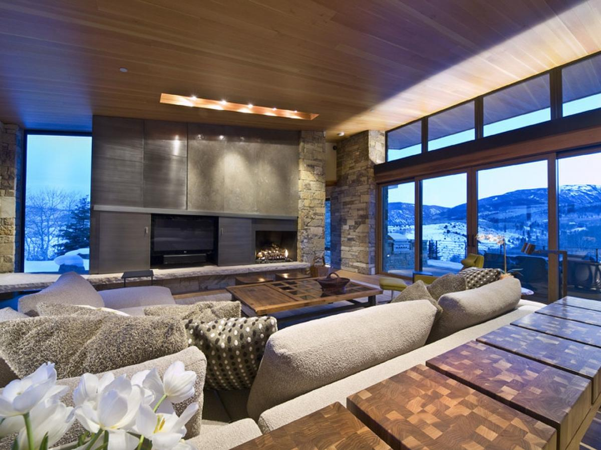 Modern mountain estate reduced million vail for Mountain modern bedroom