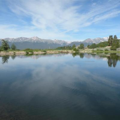 Private fishing lake with views of Mt. Elbert