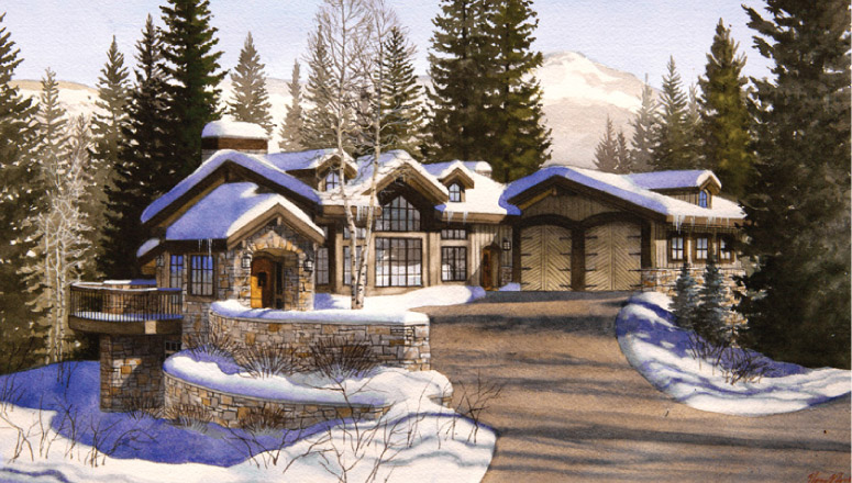 Magnificant New Home On Vail S Legendary Forest Road